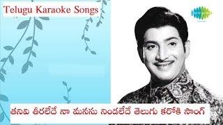 Thanivi Teraledhe Telugu Karaoke song telugu lyrics