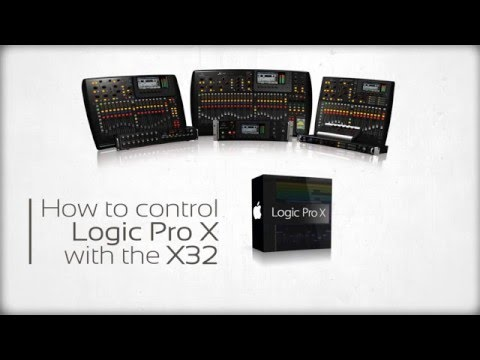 control logic pro x with the behringer x32 midi assign youtube. Black Bedroom Furniture Sets. Home Design Ideas