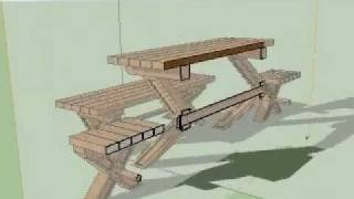 Google Sketchup Garden Furniture Part 2