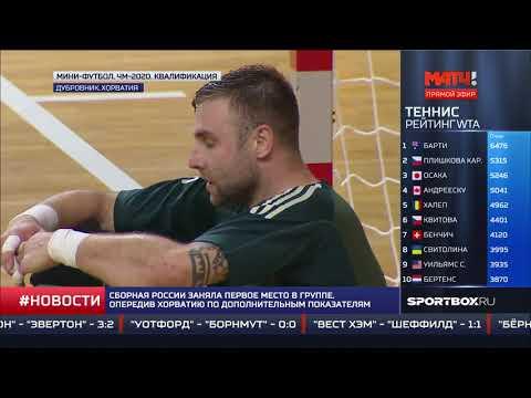 """""""Матч!ТВ"""". 27.10.19 - 11:45. Новости спорта. Россия - Хорватия. 2-2"""