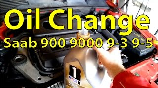 How to: Saab 900 9000 9-3 9-5 Oil Change - Trionic Seven(Changing the oil in a Saab B204, B234, B205, or B235 engine. This video shows the procedure for a Saab 9-5 Aero and a B235R engine, but the same ..., 2015-03-29T23:33:13.000Z)