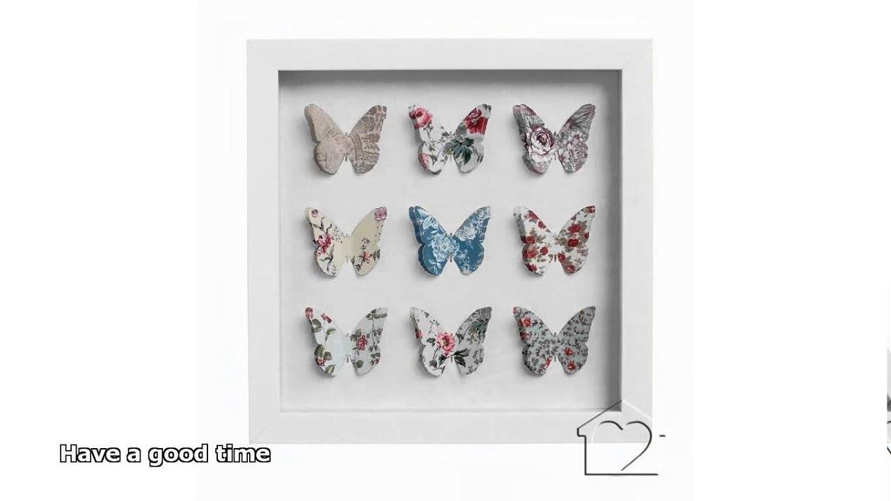 butterfly framed art - YouTube