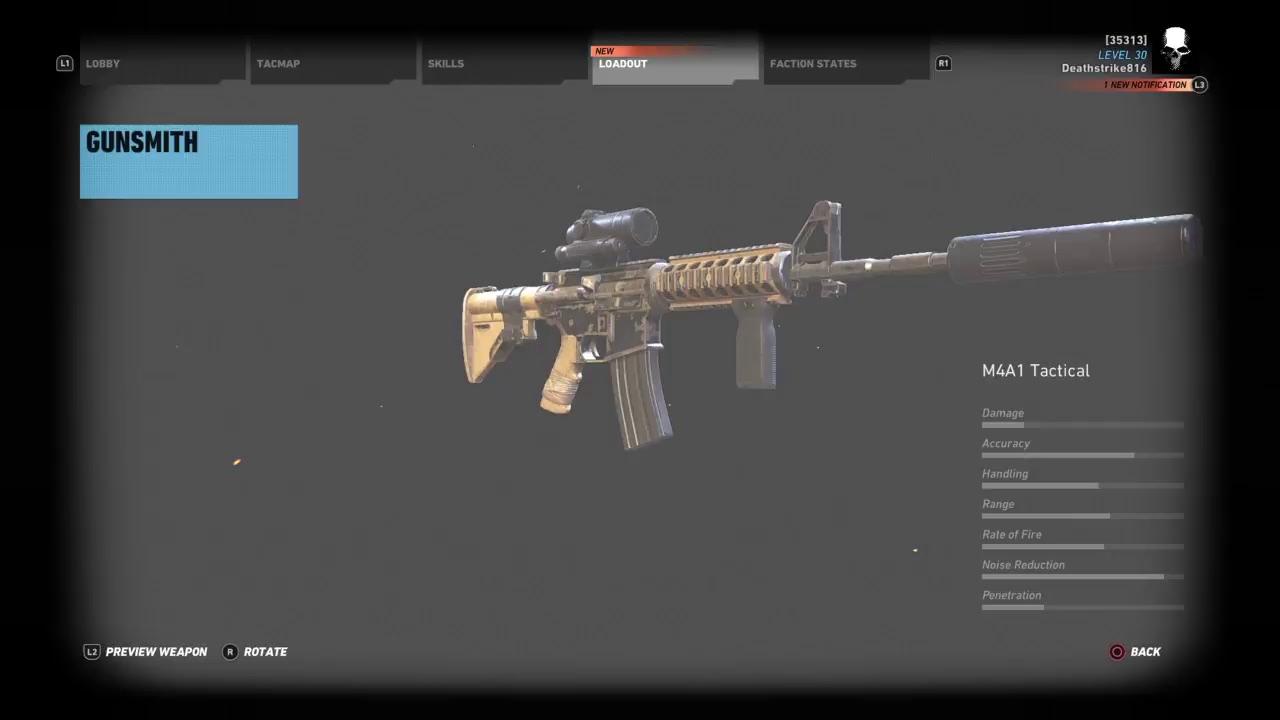 M4a1 Tactical Ghost Recon Wildlands