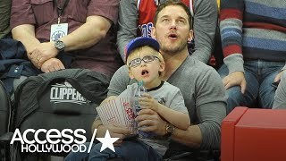 Chris Pratt Takes Adorable Son Jack Out For A Clippers Game | Access Hollywood