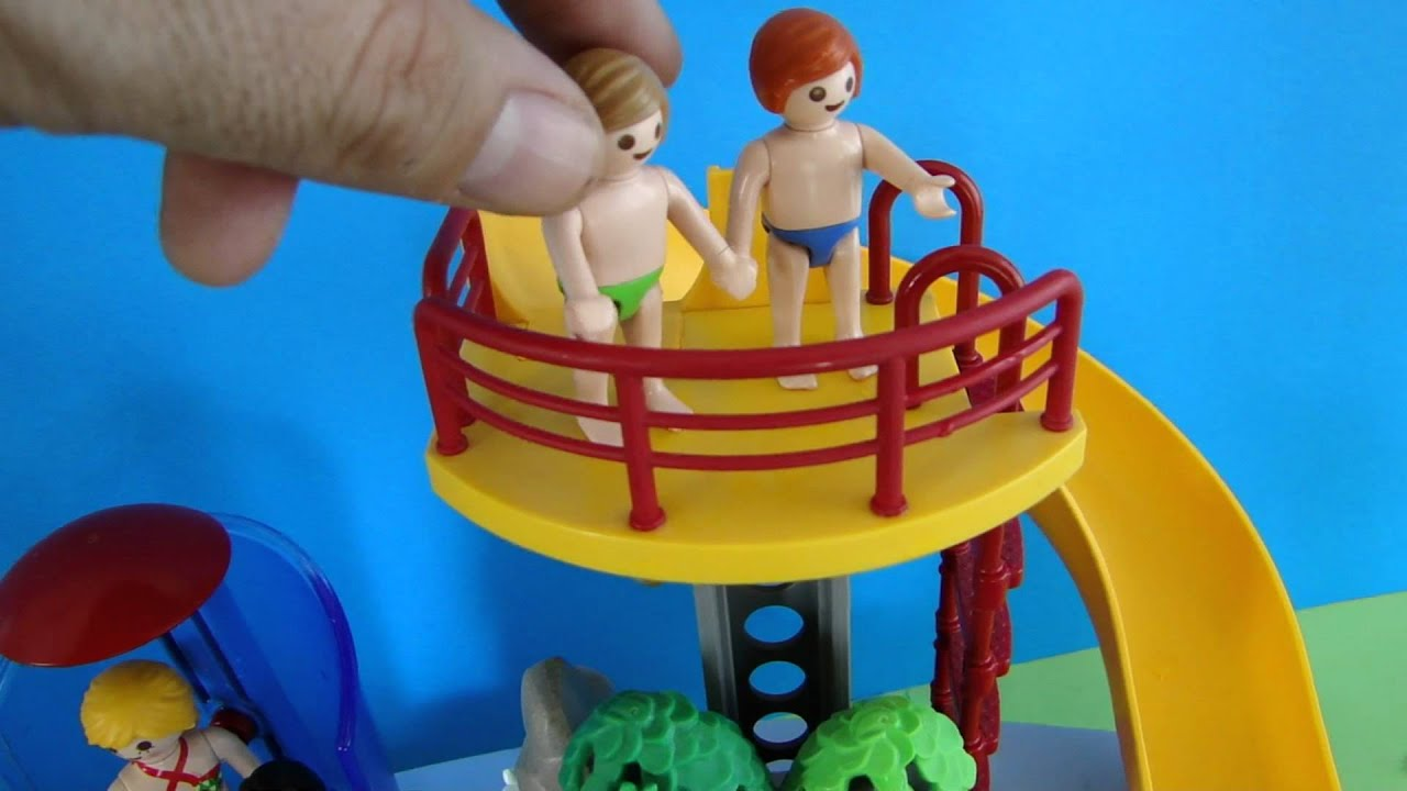 Playmobil piscine pool demo youtube for Piscine playmobil jouet club