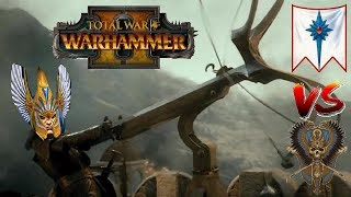 High Elves vs Tomb Kings | BOLT THROWIN : Total War Warhammer 2