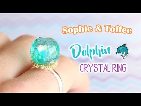 Easy UV Resin Dolphin Crystal Ring│Sophie & Toffee Subscription Box April 2018