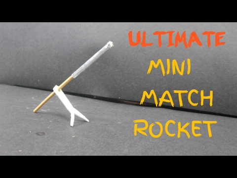 ULTIMATE DIY Mini Match Rocket With Launching Kit | Awesome Match Tricks |