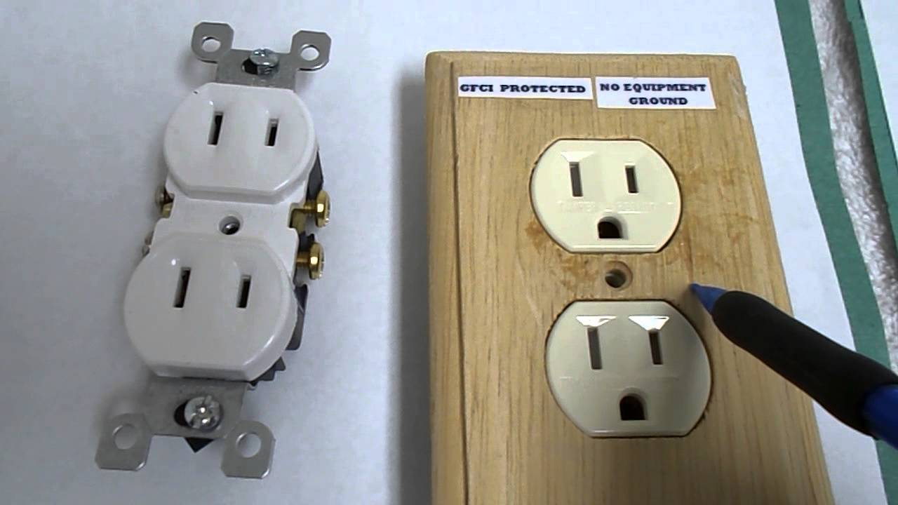 an electrical plug outlet or wall plug when no ground wire is [ 1280 x 720 Pixel ]
