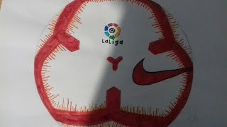 LaLiga 2019 ball-Drawing