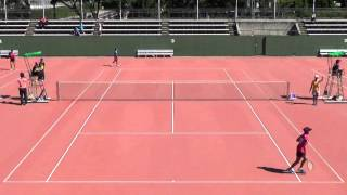 '15 全日本ジュニアソフトテニス選手権大会(JOC) 女子 U-17 シングルス 予選 C-3 小町桃子 検索動画 14