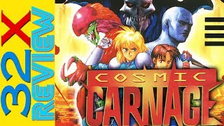 Cosmic Carnage aka Cyber Brawl Game Review  Sega 32X Exclusive