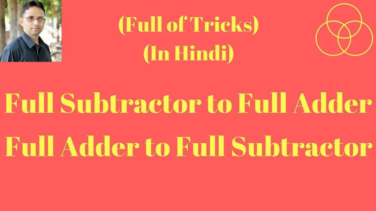 Full Subtractor Using Adders Digital Electronics 24 By Sahav A Logic Circuit Which Is Used For Subtracting Three Singh Yadav Gate Crackers
