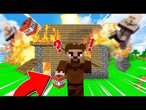 FAKİR KÖYLÜLERİN EVİNİ PATLATTI!😱 - Minecraft thumbnail