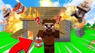 FAKİR KÖYLÜLERİN EVİNİ PATLATTI!😱 - Minecraft