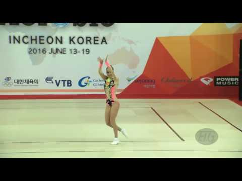 DZHANAZIAN Dukhik RUS   2016 Aerobic Worlds, Incheon KOR   Qualifications Individual Women