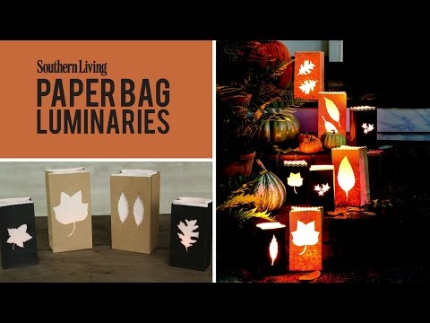 How to Make Paper Bag Luminaries | Easy Halloween & Fall Decoration