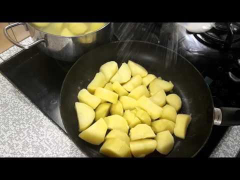 Как пожарить картошку если нет подсолнечного масла