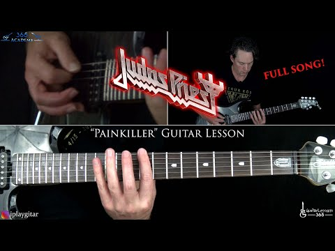 Painkiller Guitar Lesson (FULL SONG) - Judas Priest mp3