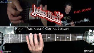 Painkiller Guitar Lesson (FULL SONG) - Judas Priest