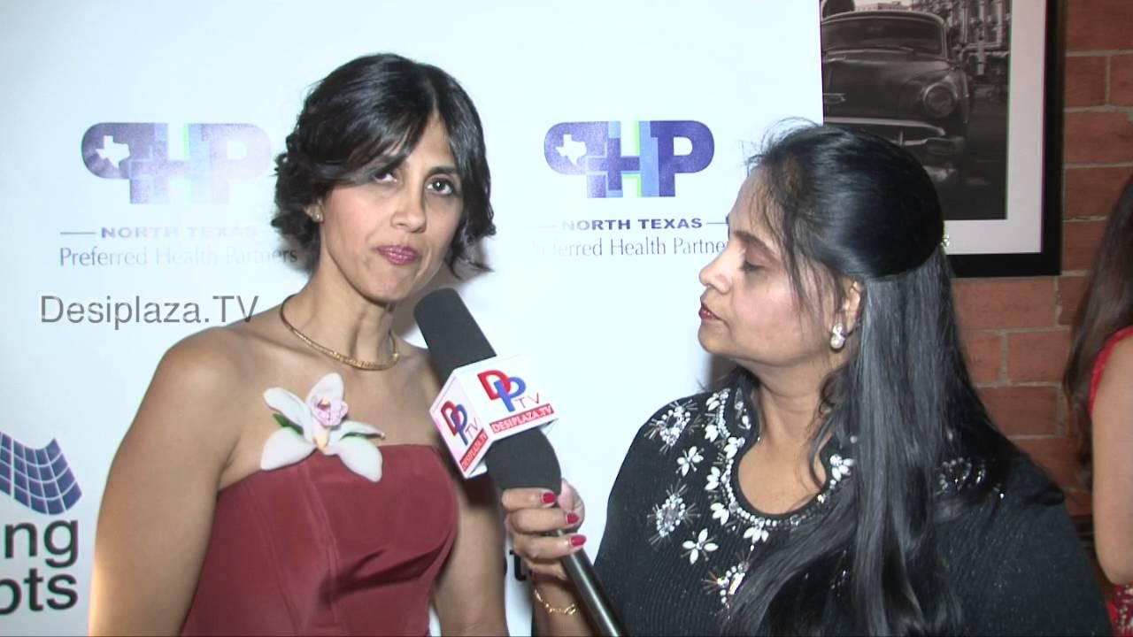 Preeta Monga, founding Member Mahila speaking at Fund Raiser in Dallas