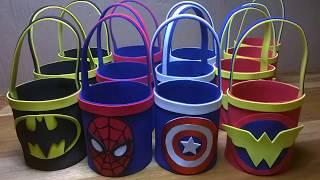Dulceros personalizados de Avengers de Goma Eva