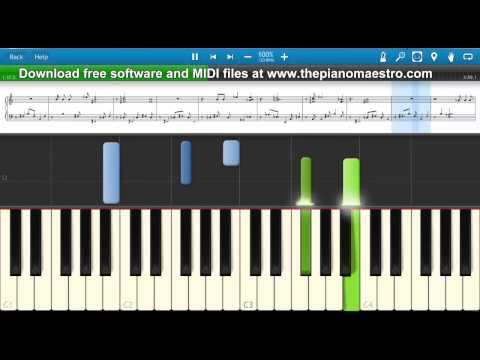 All Of The Stars The Fault In Our Stars   Ed Sheeran  piano lesson with Synthesia