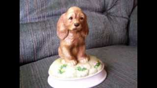 Cocker Spaniel Music Box