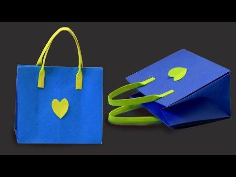 Easy Origami Handmade Mini Paper Bags | DIY Paper Crafts | Origami Kids Bag