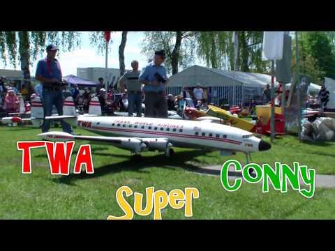 Giant RC Airplane 4x Engine TWA L-1049 Lockheed Super Constellation