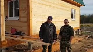 Отзыв о строительстве дома из бруса под усадку от компании