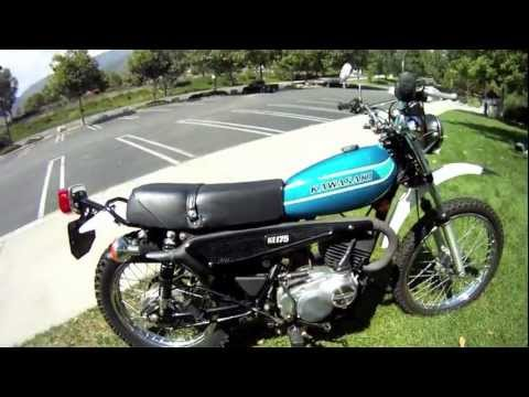 1978 Kawasaki KE 175 Enduro - YouTube
