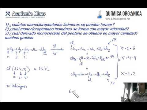 Foro QuímicaOrgánica.org.  Halogenación Pentano