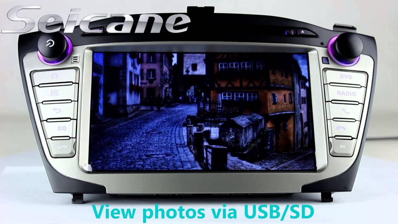 Oem 2009 2010 2011 2012 Hyundai Ix35 Tucson Gps Radio Navigation Bluetooth Wiring Diagram System Dvd With 32gb Usb
