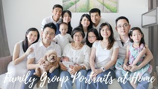 Loi and Pei Si Family Group Portraits at Home