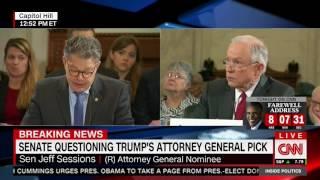 failzoom.com - Al Franken calls Jeff Sessions a liar