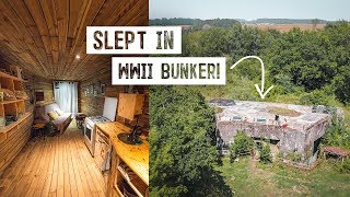 We Stayed in a WWII BUNKER! Completely Off Grid Conversion - Full Tour & History (France)