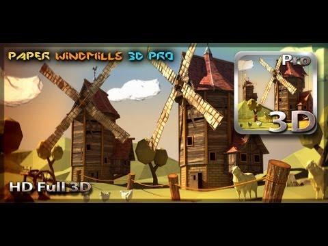 Paper Windmills 3D Pro Live Wallpaper