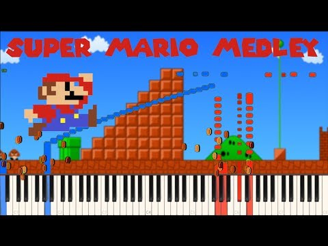 Super Mario Medley [Piano Tutorial] (Synthesia) // Piano Man