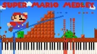 Video Super Mario Medley [Piano Tutorial] (Synthesia) // Piano Man download MP3, 3GP, MP4, WEBM, AVI, FLV Agustus 2018