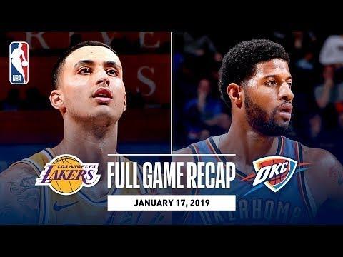 Los Angeles Lakers vs Oklahoma City Thunder Full Game Highlights I January 17, 2019