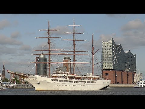 Sea Cloud II meets Elbphilharmonie | Scenic Departure from Hamburg
