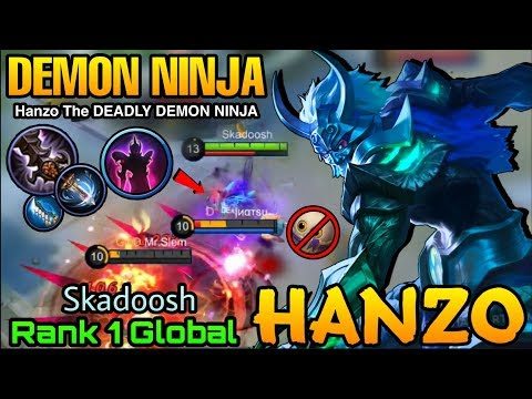 Hanzo the Pale Phantom Ninja   - Top 1 Global Hanzo Skadoosh - Mobile Legends