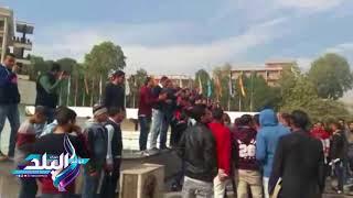 مسيرة لطلاب جامعة أسيوط للتضامن مع فلسطين .. فيديو وصور