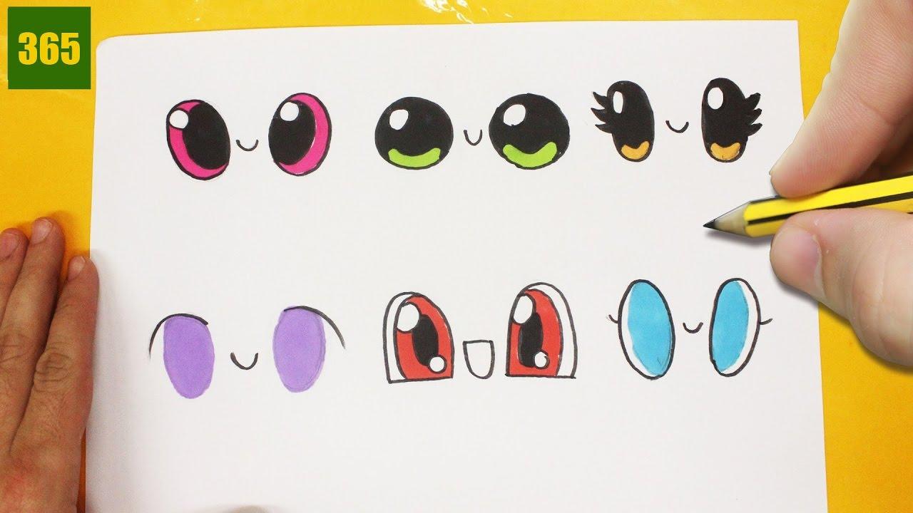 comment dessiner yeux kawaii tape par tape dessins. Black Bedroom Furniture Sets. Home Design Ideas