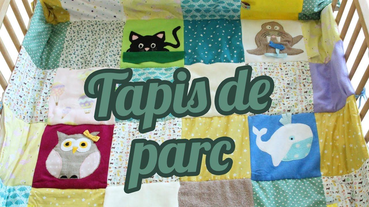 diy tapis en patchwork pour un parc de bebe