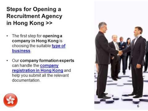 Open a Recruitment Company in Hong Kong