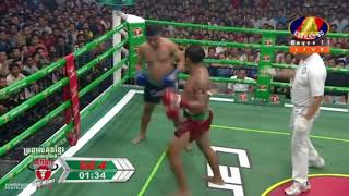 កែវ រំចង់ Keo Rumchong Vs (ថៃ) Chalermdeth, 02/September/2018, BayonTV Boxing