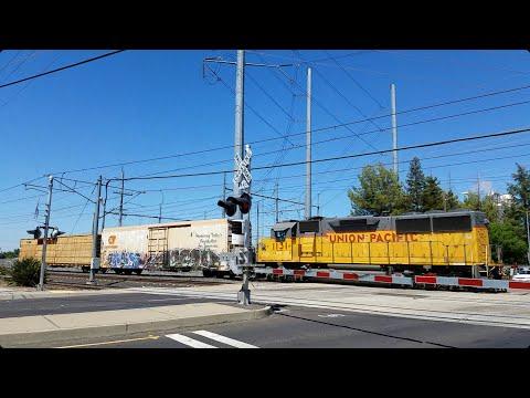 Union Pacific 1131 LRS94 Local South Through The 47th Avenue Railroad Crossing, Sacramento CA (Edit)