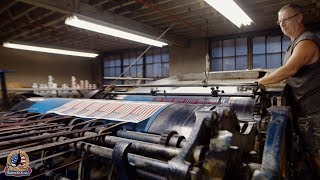 Made in USA:  American Flags Old-School Printing
